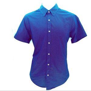 Zara Man Oxford Short Sleeve Button Down Shirt Med